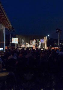 """bpe foto/ Boldrini  San Vito di Negrar Cantina la Dama, Verona 24.6.2016 Teatro Impiria, rassegna teatrale: Teatro in cantina """"Ali. una strada lastricata di stelle"""" nella foto:"""