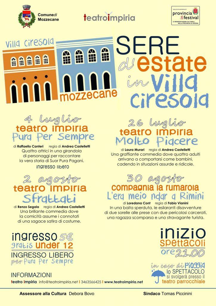 FRONTE Sere d'Estate in Villa